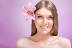 Spa woman's face Royalty Free Stock Photo