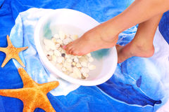 Spa and woman teet Stock Photo