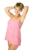 Spa woman in towel Royalty Free Stock Photography