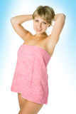 Spa woman in towel after shower Royalty Free Stock Photography