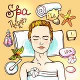 Spa woman waiting spa massage Stock Photos