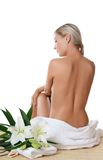 Spa Woman on white Stock Images