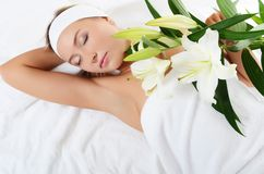 Spa Woman  on white Royalty Free Stock Image