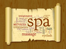 Spa word cloud vector illustration Royalty Free Stock Image