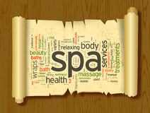 Spa word cloud vector illustration Royalty Free Stock Photography