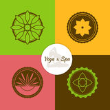 Spa and yoga lables set Stock Photography