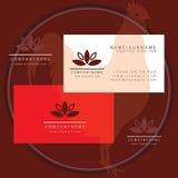 Spa yoga symbol business card logo. Vector spa yoga symbol business card logo symbol vector illustration