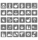 Spa yoga zen flat icons isolated on white Stock Image