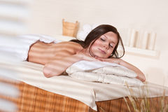 Spa - Young woman at wellness massage treatment. Spa - Young woman at wellness therapy treatment relaxing stock images