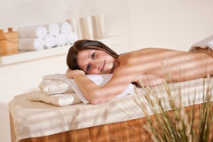 Spa - Young woman at wellness massage treatment Stock Photo