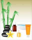 Spa zen stones and bamboo Royalty Free Stock Image