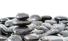 Spa Zen Stones. With water drop on white stock photography