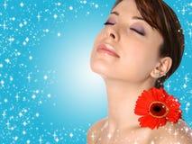 spa zmysłowi młode kobiety Obrazy Royalty Free