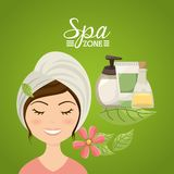Spa zone design Royalty Free Stock Images