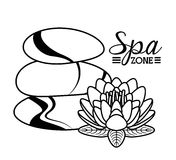 Spa zone. Design, vector illustration eps10 graphic Stock Photos