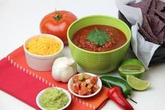 Spaanders en Salsa Stock Foto's