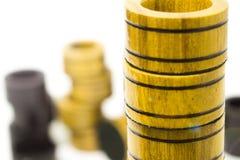 Spaanders van de spelcontroleurs of backgammon op elkaar stock afbeelding
