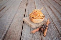Spaanders van droge boniter, Japans voedsel Stock Afbeeldingen