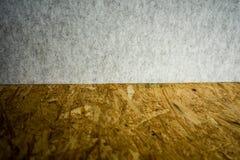 Spaanplaat en muur textielmuur stock afbeelding