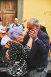 Spaans Dansend Paar Stock Foto