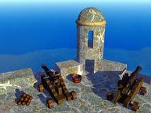 Spaans Fort Vector Illustratie