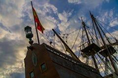 Spaans galjoen royalty-vrije stock foto's