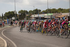 Spaans het cirkelen reisla Vuelta Stock Foto's