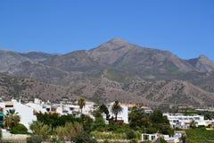 Spaans landschap - Nerja, Costa del Sol Royalty-vrije Stock Foto