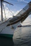 Spaans Marine Opleidingsschip, Juan Sebastian de Elcano stock afbeeldingen