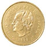 100 Spaans peseta'smuntstuk Royalty-vrije Stock Afbeelding