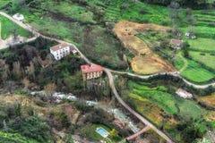 Spaans platteland nabijgelegen Ronda stock foto's