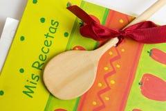 Spaans receptenboek Stock Afbeeldingen