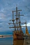 Spaans schip in haven Spanje (Expo 2010) Royalty-vrije Stock Foto's
