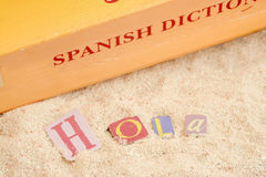 Spaans strand royalty-vrije stock afbeelding