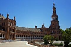 Spaans vierkant in Sevilla Stock Afbeelding
