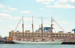 Spaans Zee Lang Schip Juan Sebastian De Elcano royalty-vrije stock foto's