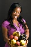 Spaanse Afrikaanse Amerikaanse vrouw fres stock afbeelding