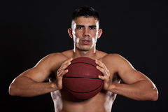 Spaanse basketbalspeler royalty-vrije stock fotografie
