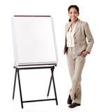 Spaanse bedrijfsvrouwenpresentatie Stock Foto's