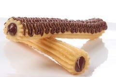 Spaanse Chocolade Churro 4 royalty-vrije stock afbeeldingen