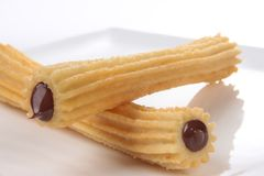 Spaanse Chocolade Churro 3 stock fotografie