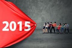 Spaanse commerciële teambelemmering nummer 2015 royalty-vrije stock afbeelding