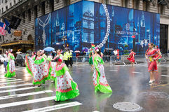 2016 Spaanse Dagparade in New York Stock Foto's