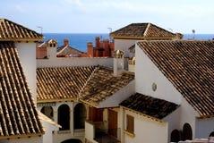 Spaanse daken stock foto