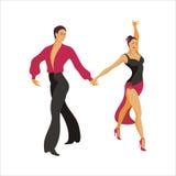 Spaanse dans Paso Doble vector illustratie