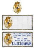 Spaanse de Straattegels van New Orleans Royalty-vrije Stock Foto's