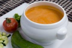 Spaanse gazpacho Royalty-vrije Stock Foto's