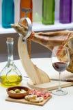 Spaanse jamon Iberico Royalty-vrije Stock Foto's