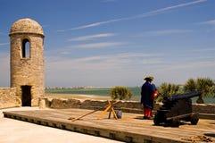 Spaanse Kanon en Wachten Royalty-vrije Stock Fotografie