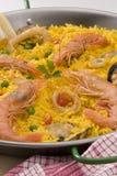 Spaanse Keuken. Paella. Spaanse rijst. Royalty-vrije Stock Fotografie